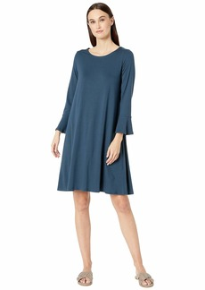 Eileen Fisher Round Neck Bracelet Sleeve Dress