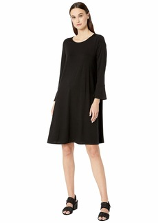Eileen Fisher Round Neck Bracelet Sleeve Dress