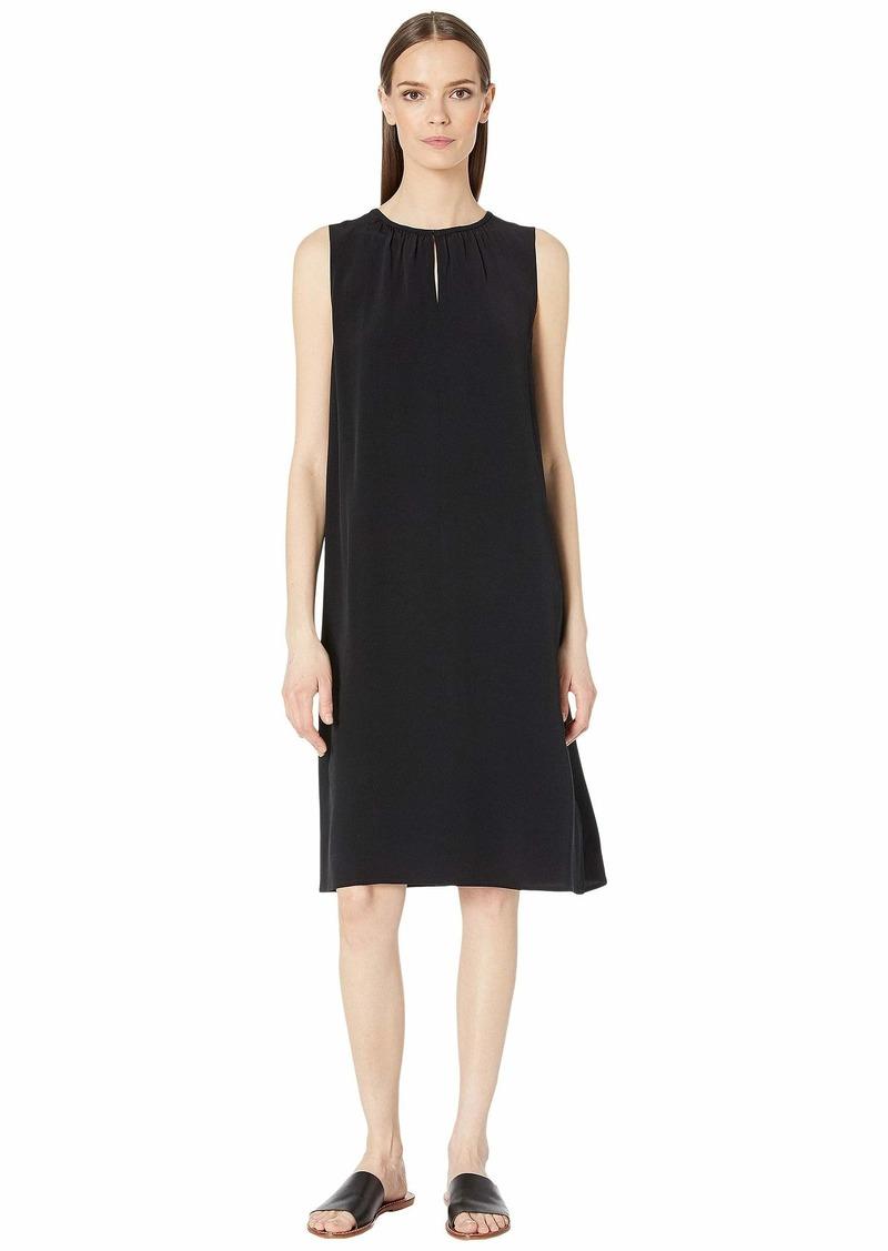 Eileen Fisher Round Neck Knee Length Dress