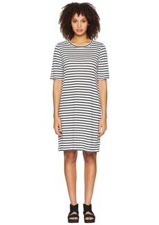 Eileen Fisher Round Neck Knit Linen Dress