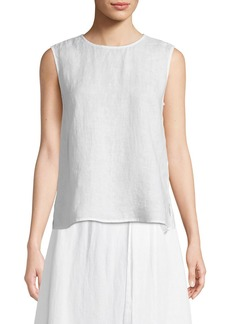 Eileen Fisher Round-Neck Linen Tank