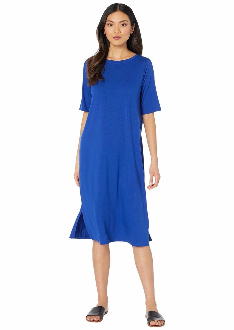 Eileen Fisher Round Neck Short Sleeve Dress