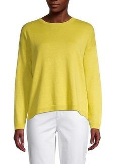 Eileen Fisher Roundneck Organic Linen & Cotton-Blend Sweater