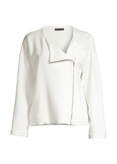 Eileen Fisher Roundneck Zip Jacket