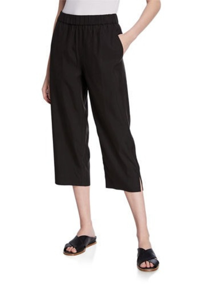 Eileen Fisher Sandwash Slouchy Straight-Leg Crop Pants