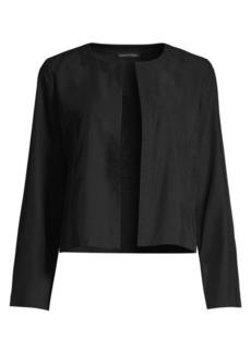 Eileen Fisher Sandwashed Short Jacket