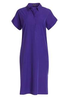 Eileen Fisher Sandwashed Short-Sleeve Collared Dress