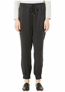 Eileen Fisher Sandwashed Silk Charmeuse Ankle Pants