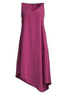Eileen Fisher Sandwashed Tencel Asymmetric Dress