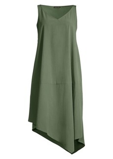 Eileen Fisher Sandwashed Tencel Asymmetric Dress