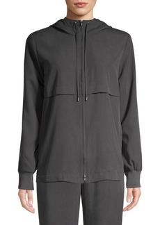Eileen Fisher Sandwashed Tencel Hooded Jacket