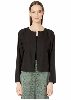 Eileen Fisher Sandwashed Tencel Round Neck Jacket