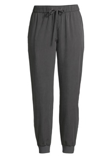 Eileen Fisher Sandwashed Tencel Track Ankle Pants