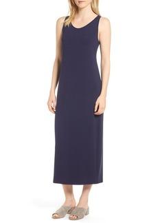 Eileen Fisher Scoop Neck Midi Dress