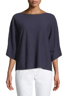 Eileen Fisher Seamless Seasonless Italian Cashmere Top
