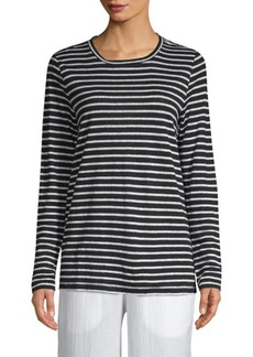 Eileen Fisher Seaside Long Sleeve Stripe Top