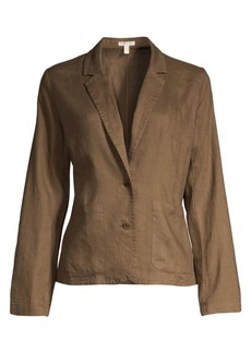 Eileen Fisher Shaped-Fit Organic Linen Blazer