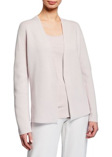 Eileen Fisher Shaped Silk/Organic Cotton Interlock Cardigan