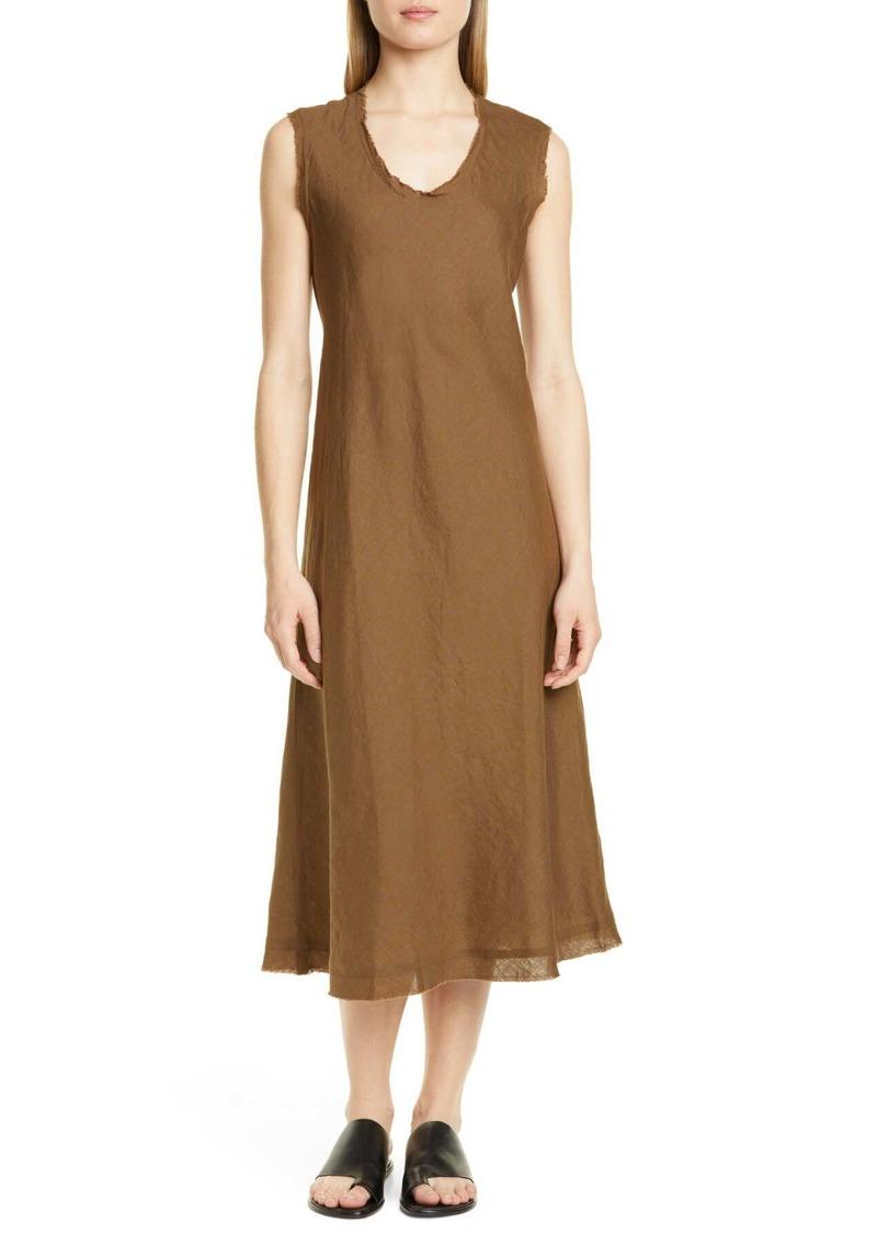 Eileen Fisher Shaped Sleeveless Linen Tank Dress (Petite)