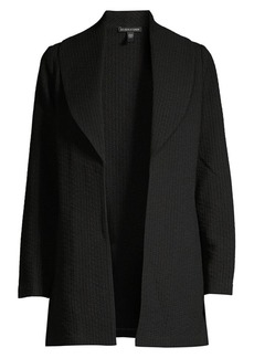 Eileen Fisher Shawl Collar Tweed Jacket
