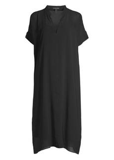 Eileen Fisher Sheer Silk Georgette Dress