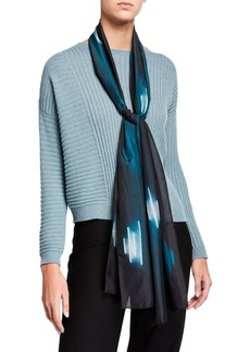 Eileen Fisher Shibori Dash Silk Scarf