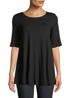 Eileen Fisher Short-Sleeve Jersey Tunic