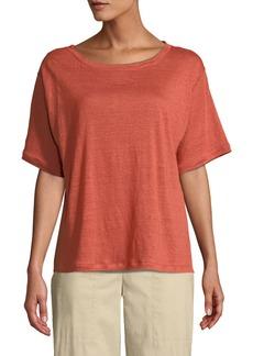Eileen Fisher Short-Sleeve Linen Jersey Tee