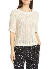 Eileen Fisher Short Sleeve Organic Cotton Sweater