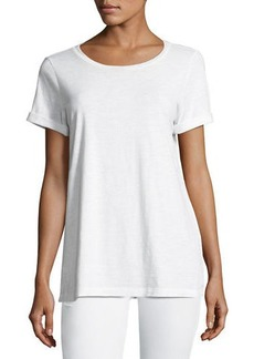 Eileen Fisher Short-Sleeve Slubby Jersey Tee