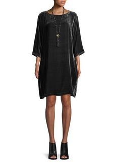 Eileen Fisher Short Velvet Shift Dress  Petite