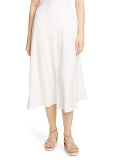Eileen Fisher Side Slit Silk Skirt