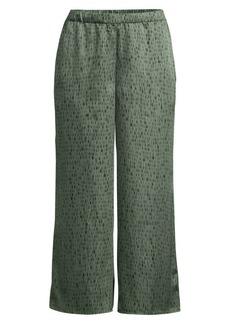 Eileen Fisher Silk & Organic Cotton Wide-Leg Jacquard Trousers
