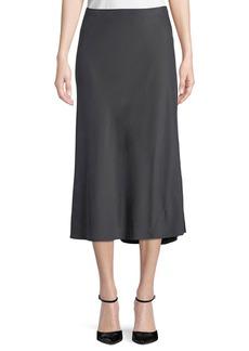 Eileen Fisher Silk Bias-Cut Midi Skirt