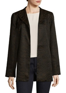 Eileen Fisher Silk-Blend Open-Front Jacket