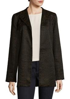 Eileen Fisher Silk-Blend Open-Front Jacket