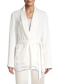 Eileen Fisher Silk-Blend Shawl Neck Jacket