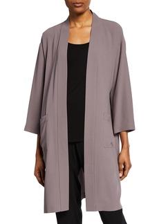Eileen Fisher Silk Crepe Kimono Jacket