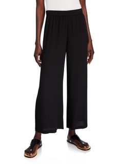 Eileen Fisher Silk Crepe Pull-On Ankle Pants