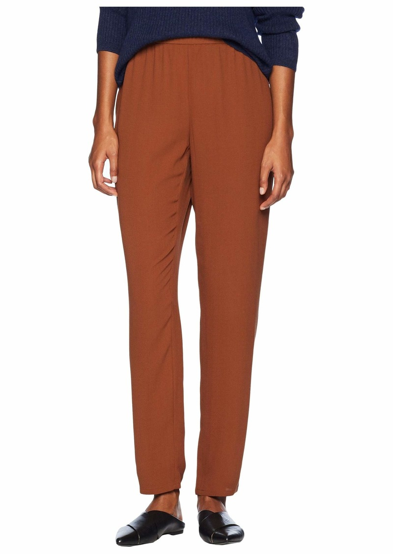 e94fd4623b8 Eileen Fisher Silk Georgette Crepe Slouchy Ankle Pants