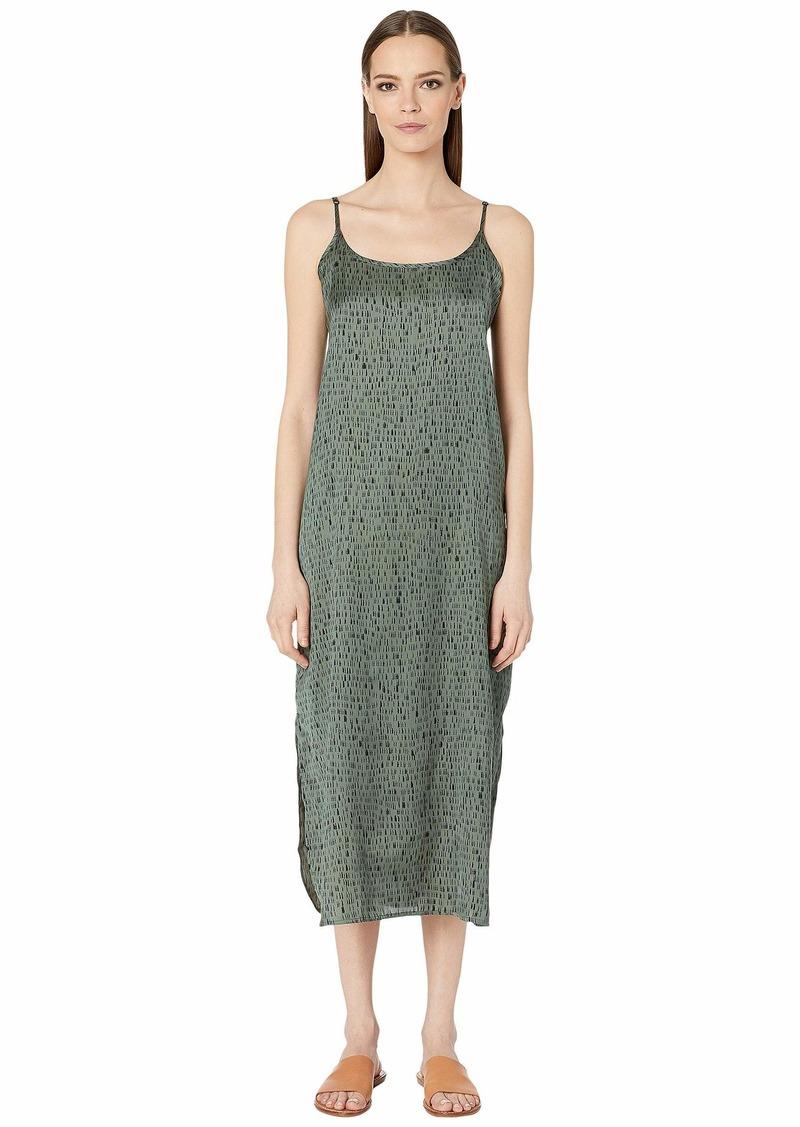 Eileen Fisher Silk Organic Cotton Dash Cami Maxi Dress