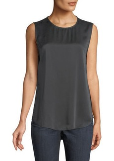 Eileen Fisher Silk Round-Neck Tank