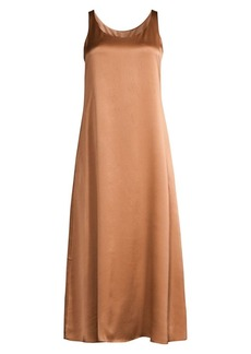Eileen Fisher Silk Scoop-Neck Maxi Dress