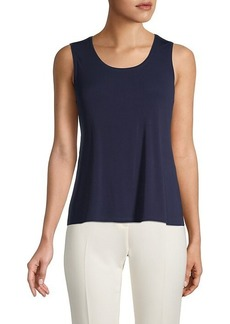 Eileen Fisher Silk Scoop-Neck Tank Top
