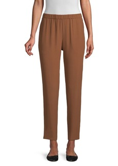 Eileen Fisher Silk Slouchy Ankle Pants