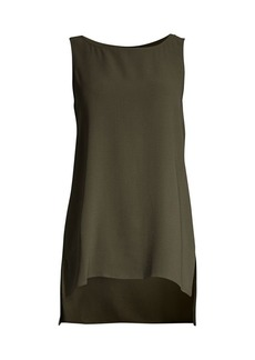 Eileen Fisher Silk Step-Hem Sleeveless Top