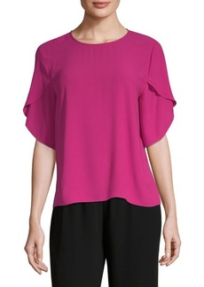 Eileen Fisher Silk Tulip-Sleeve Top