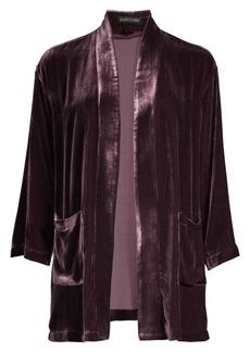 Eileen Fisher Silk Velvet Kimono Jacket