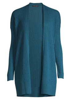 Eileen Fisher Simple Rib-Knit Cashmere Cardigan