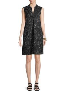 Eileen Fisher Sleeveless Dot-Print A-line Dress